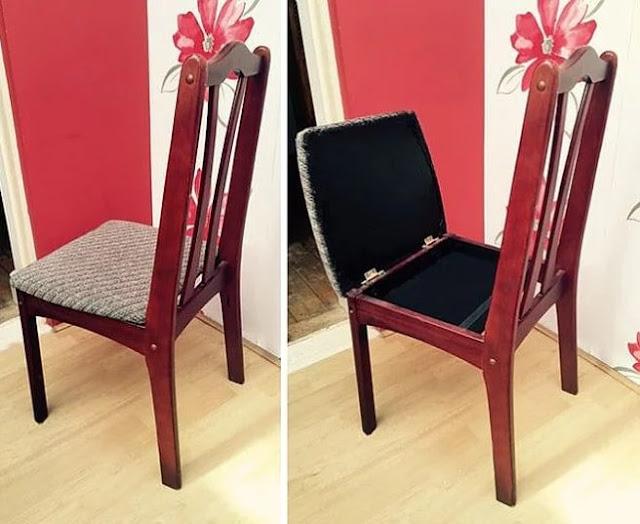 Algumas cadeiras são projetadas desta forma ... É muito útil!