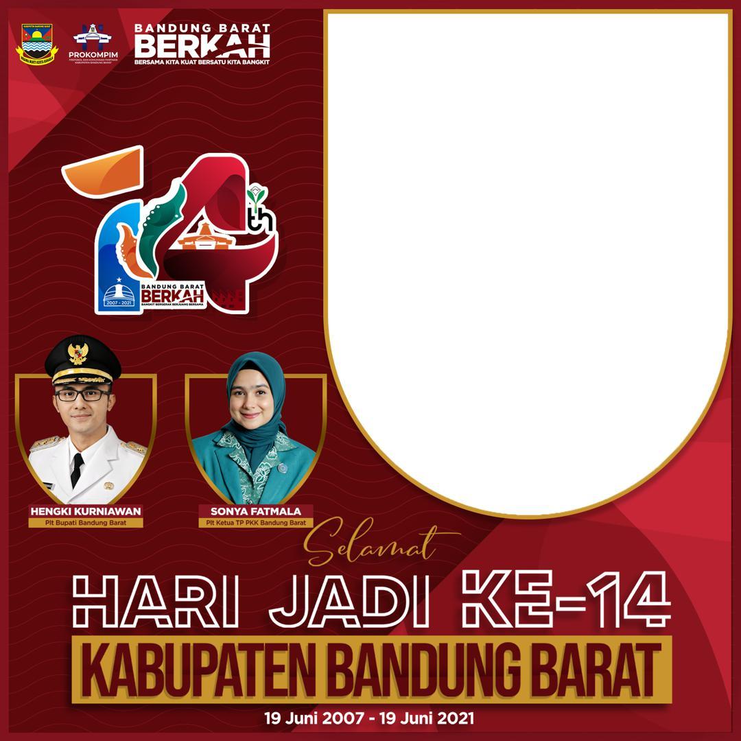 Link Bingkai Twibbon Hari Jadi ke-14 Kabupaten Bandung Barat 2021 - Twibbonize