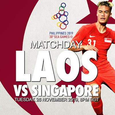 Live Streaming Laos vs Singapore (SEA GAMES) 26.11.2019