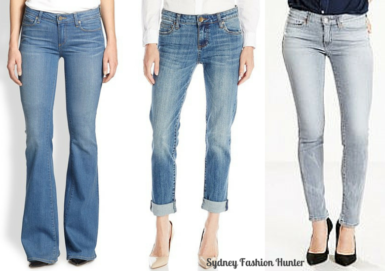 Flare, boyfriend & skinny jeans