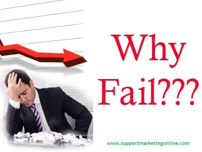 nguyên nhân làm marketing online thất bại