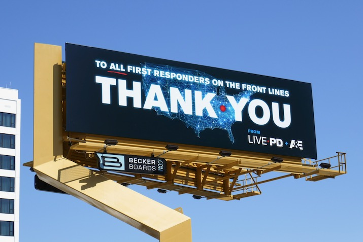 first responders Thank You Live PD billboard