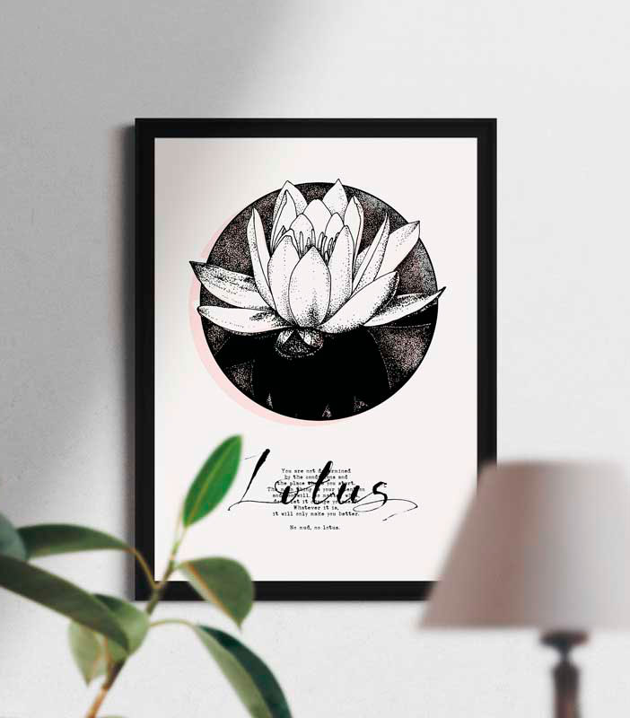 Lotus, Poster, Inktober, Sonia Nezvetaeva, art blog
