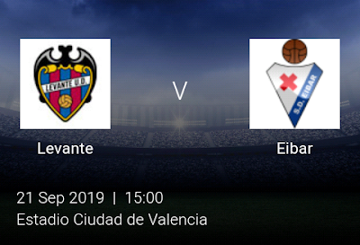 LIVE MATCH: Levante Vs Eibar Spanish LaLiga 21/09/2019