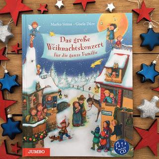 """""""Das große Weihnachtskonzert für die ganze Familie"""" von Marko Simsa, Rezension auf Kinderbuchblog Familienbücherei"""