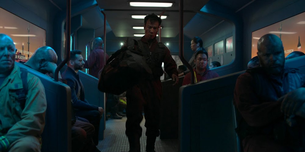 Mars colony metro in Season 5 of The Expanse