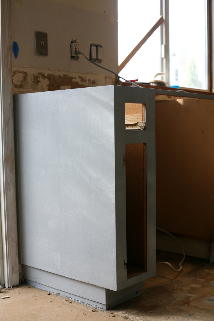 Once The Backs Of The Doors And Drawer Fronts Are Dry, Flip Over And Prime  The Fronts.