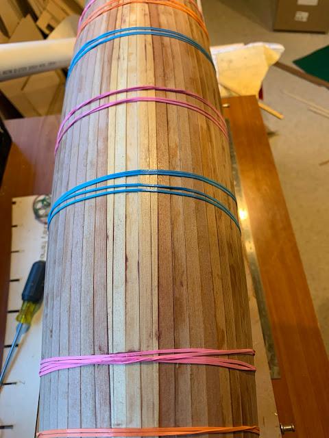 Vickers V8 IOM wooden RC sailboat