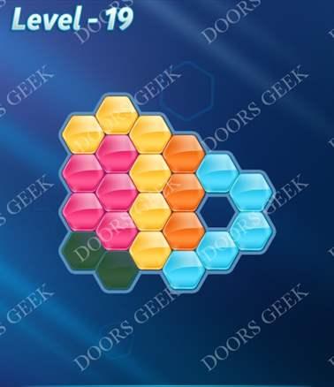 Block! Hexa Puzzle [Intermediate] Level 19 Solution, Cheats, Walkthrough for android, iphone, ipad, ipod