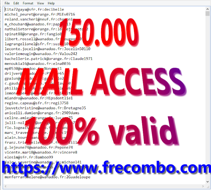 150.000 MAIL ACCESS 100% valid HQ FOR ALL [ Spotify, Netflix, Hulu, HBO, Uplay,Steam,Origin]
