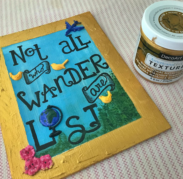 not all who wander are lost quote canvas paint