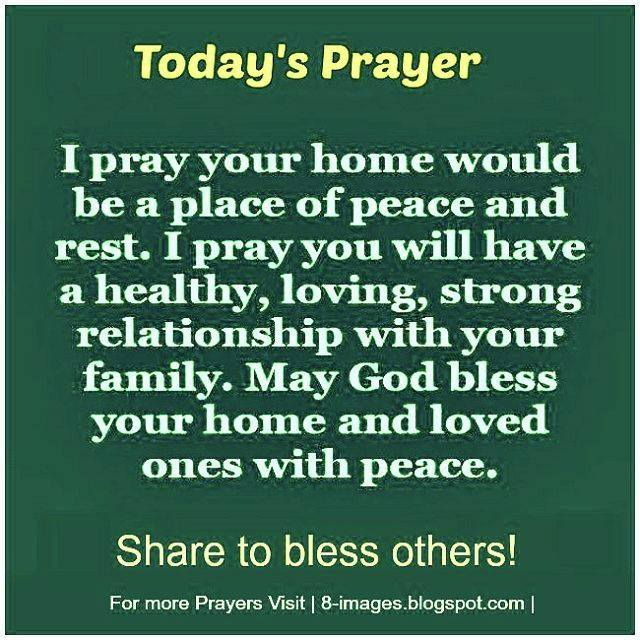 Prayer For Strong Relationships And Peace Quotes