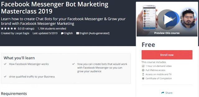 [100% Free] Facebook Messenger Bot Marketing Masterclass 2019