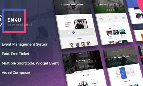Event EM4U v1.3.3 Download - Multiple Event Booking Conference Ticket