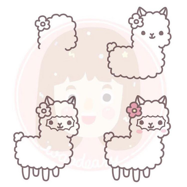 Cara menggambar Llama untuk anak-anak