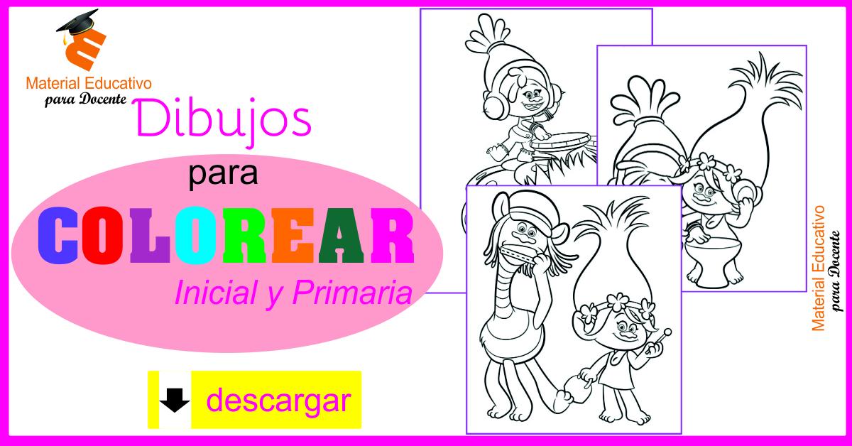 Material Educativo Dibujos Para Colorear Para Niños De