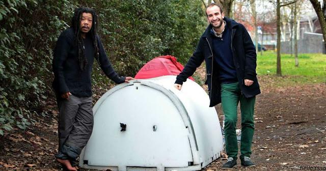 Инженер изобрел ″каюты″ для бездомных, которые сохраняют тепло зимой