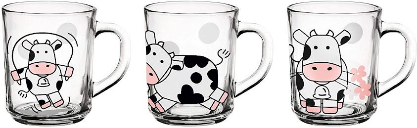 Vasos - cristal - leche - vacas - vacaslecheras.net