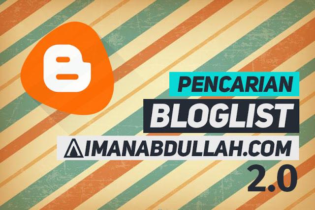 Segmen Pencarian Bloglist aimanabdullah.com 2.0