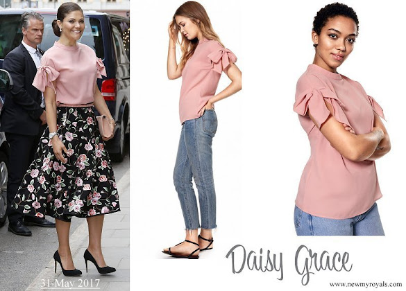 Crown Princess Victoria wore DAISY GRACE Top