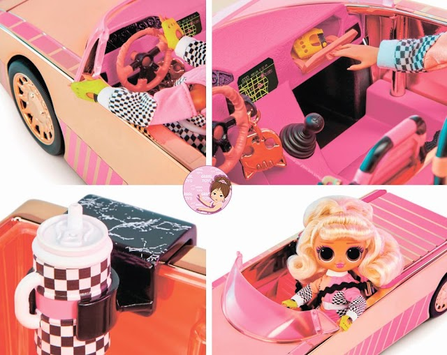 Pink L.O.L. Surprise Car Playset: Racing Coupe with a Pool for O.M.G. Dolls