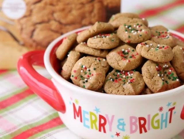 Easy Gingerbread Cookie Bites #cookies #easy