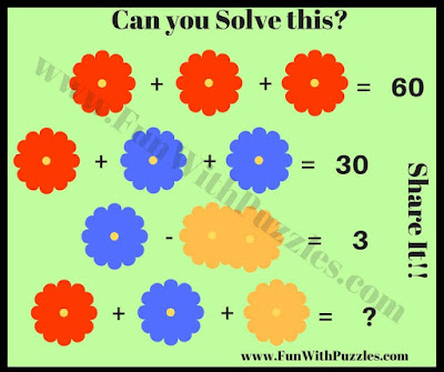 Flowers Math Picture Puzzle for Kids