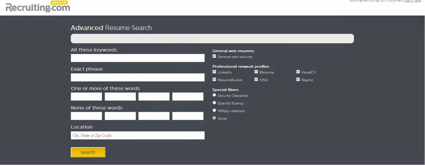 the recruiter u0026 39 s today  free sourcing tool