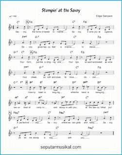 chord stompin' at the savoy lagu jazz standar
