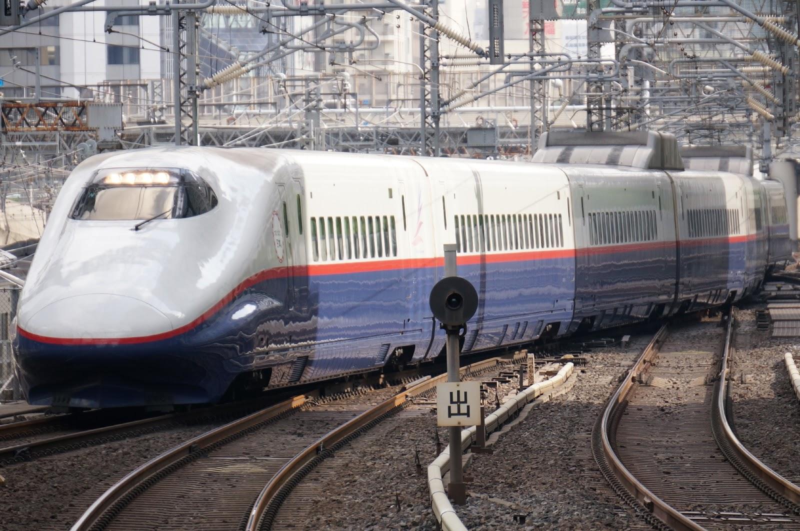 東京駅へ到着するE2系新幹線