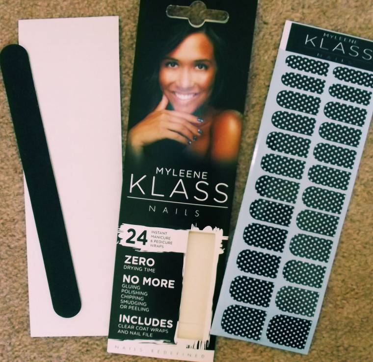MYLEENE KLASS Nails Review:Polka Dot Nail Wraps