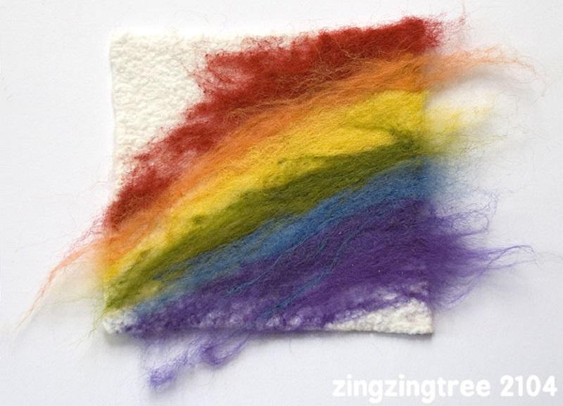 needle felted rainbow