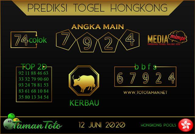 Prediksi Togel HONGKONG TAMAN TOTO 12 JUNI 2020