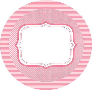 So Girly in Pink  Toppers or Free Printables Labels.