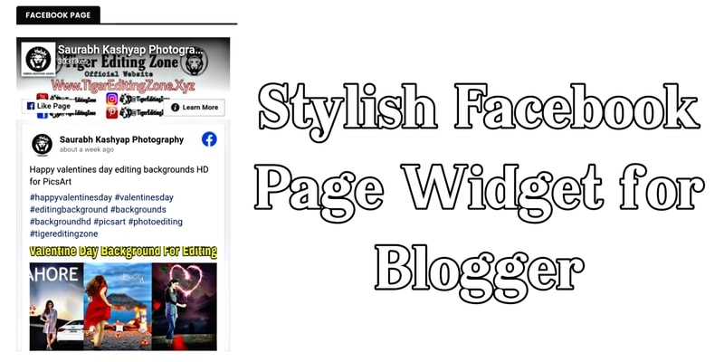 Blogger Blog me Stylish Facebook Page Like Box Widget Kaise Add Kare? 2021