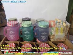 Drinking Jar Dove Warna Dengan Tutup Cantik Kemasan Paper Box