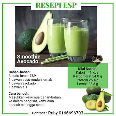Resepi Smoothie ESP Shaklee Avokado