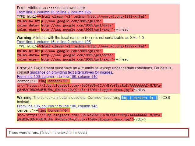 Blogger 使用 HTML5 Validator 解決 xmlns 與 border 錯誤的方式_001