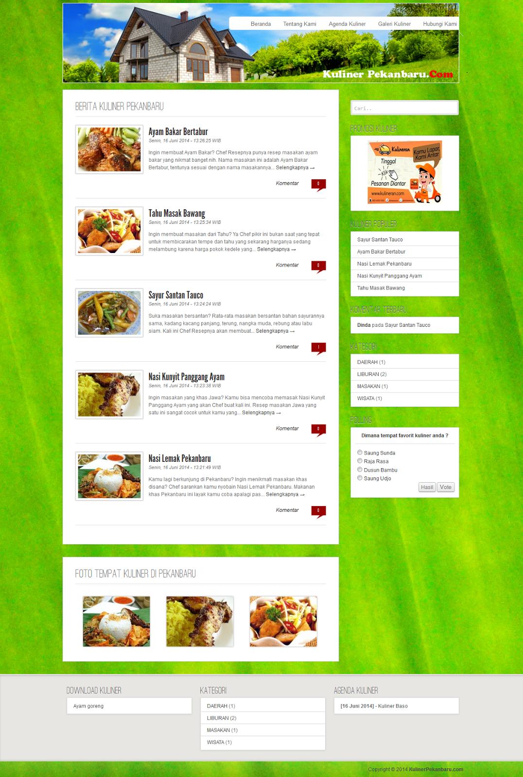Contoh Web Kuliner Menggunakan Php Dan Mysql Skripsi Teknik