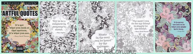 kleurboek artful quotes
