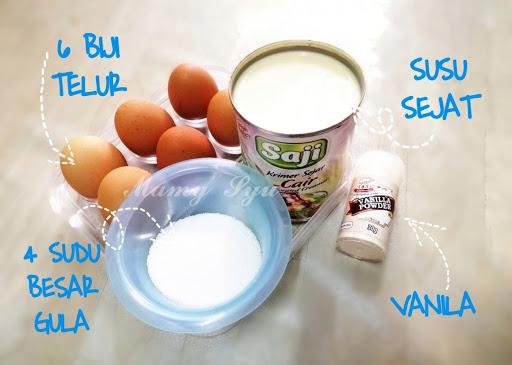 Bahan nak buat puding karamel puding telur custard
