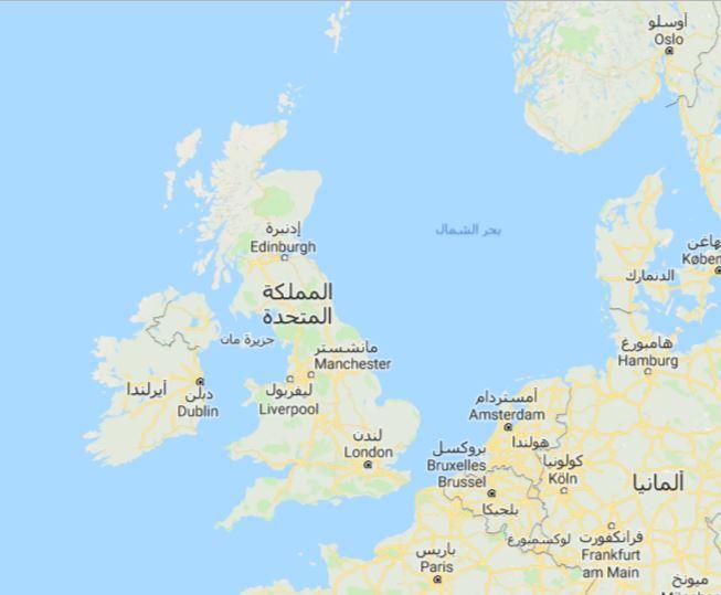 خريطة المملكة المتحدة البريطانية United Kingdom Map مجلة رحالة