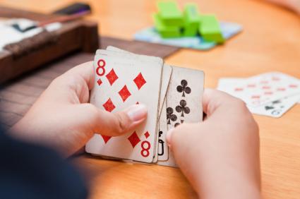 Jogo para trabalhar Senso Numérico com cartas de baralho