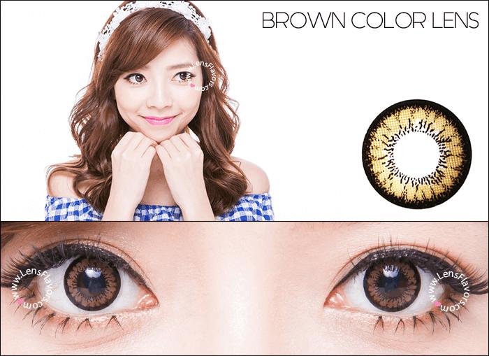 geo angel brown circle lenses