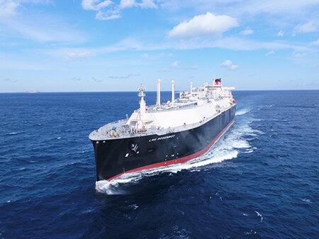 El buque de gas natural licuado de MOL fue entregado en enero de 2021 (foto cortesía de MOL)