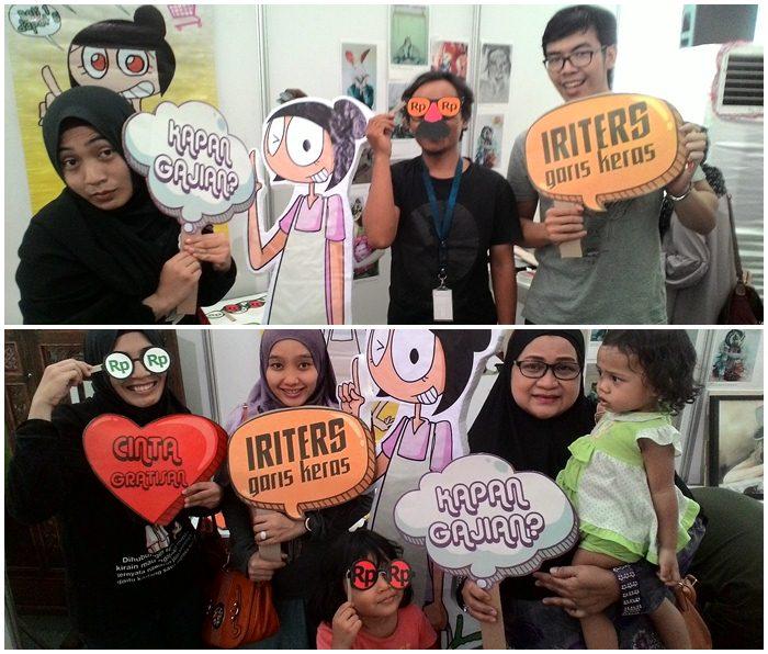 Mak Irits di Festival Komik dan Animasi 2015