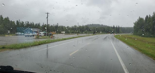Passing the Covid-19 checkpoint at Watson Lake Yukon Territory