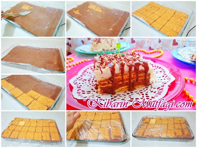 Bisküvili havuçlu pasta tarifi  ' nin yapılışı  Burçak bisküvili mini pasta tarifi  ' nin yapılışı  Bisküvili bal kabağı pastası tarifi ' nin yapılışı  Cici bebe bisküvili kolay yaş pasta tarifi ' nin yapılışı