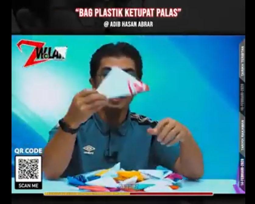 cara mudah lipat beg plastik ketupat palas