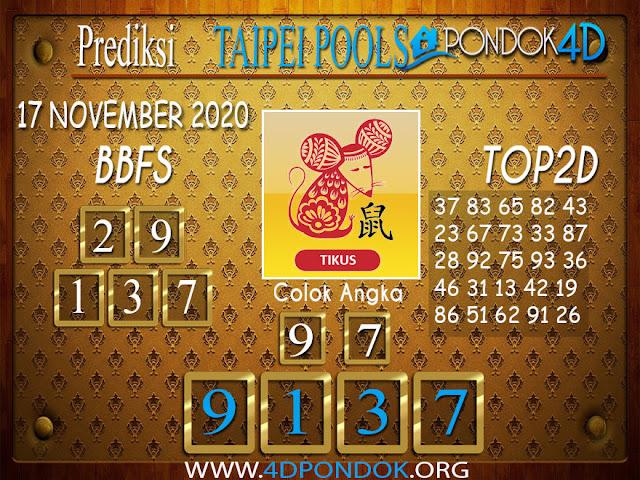 Prediksi Togel TAIPEI PONDOK4D 17 NOVEMBER 2020